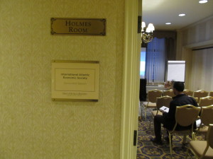 Outside a room for one of the breakout sessions.